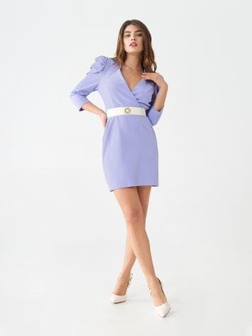 Short dress with low-cut neckline Short dress with low-cut neckline Rinascimento