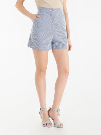 Short with micro vertical stripes Short with micro vertical stripes Rinascimento