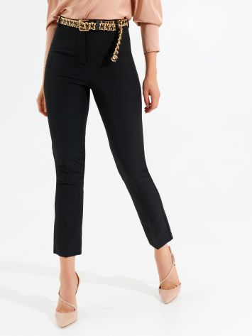 Skinny trousers with jewel belt Skinny trousers with jewel belt Rinascimento
