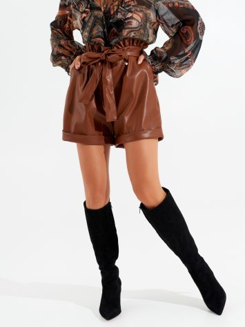 Faux leather shorts Faux leather shorts Rinascimento