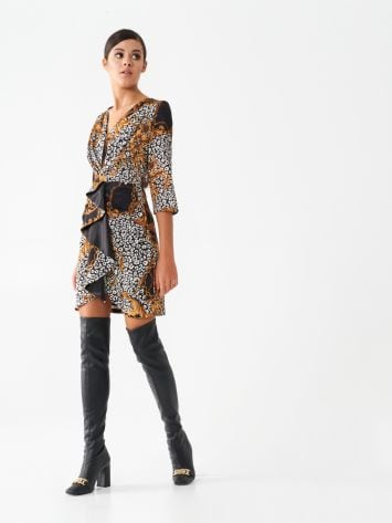 Printed ruched mini dress Printed ruched mini dress Rinascimento