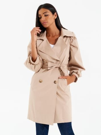 Puff sleeve trench coat Puff sleeve trench coat Rinascimento