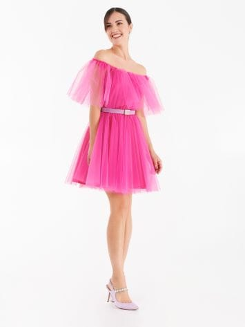 Pleated tulle dress Pleated tulle dress Rinascimento