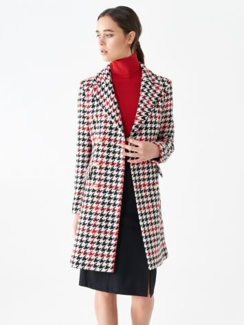 Houndstooth pattern coat Houndstooth pattern coat Rinascimento