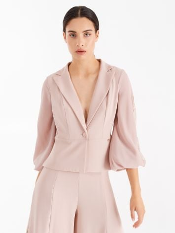 Jacket with lace sleeves, dusty pink colour Jacket with lace sleeves, dusty pink colour Rinascimento