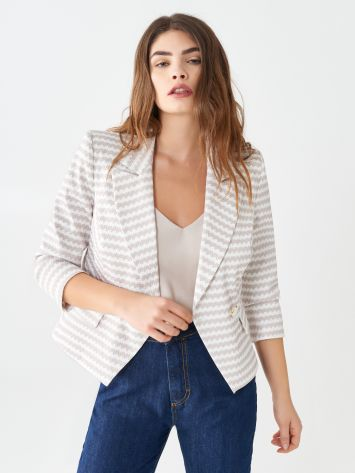 Two-tone short jacket Two-tone short jacket Rinascimento