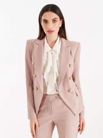 Double-breasted jacket, dusty pink colour Double-breasted jacket, dusty pink colour Rinascimento