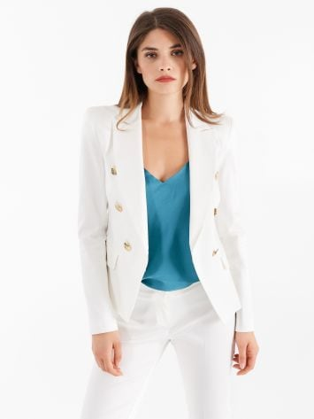 Sateen double-breasted jacket Sateen double-breasted jacket Rinascimento