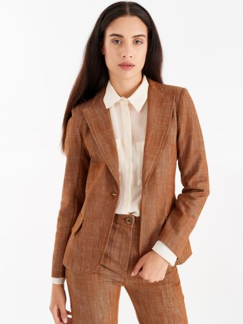 Denim jacket, tobacco colour Denim jacket, tobacco colour Rinascimento