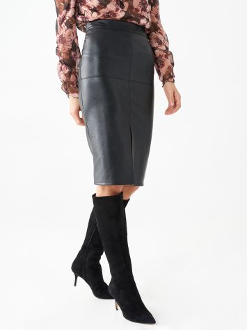 Longuette skirt in faux leather Longuette skirt in faux leather Rinascimento