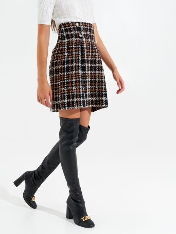 Short houndstooth skirt Short houndstooth skirt Rinascimento