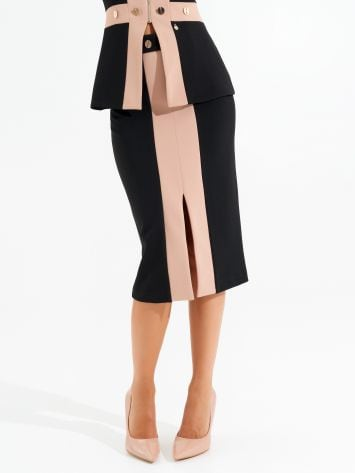 Two-tone mid-length skirt Two-tone mid-length skirt Rinascimento