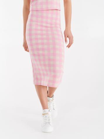 Maxi checker print longuette skirt Maxi checker print longuette skirt Rinascimento