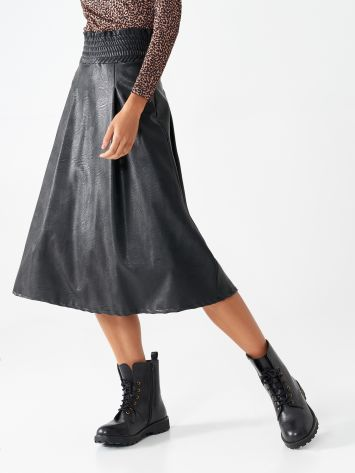 Faux leather midi skirt Faux leather midi skirt Rinascimento
