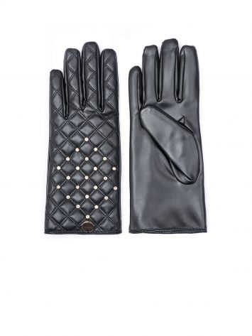Quilted faux leather gloves Quilted faux leather gloves Rinascimento