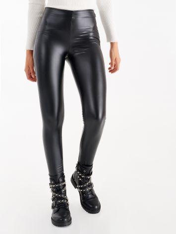 Vinyl-effect leggings, black Vinyl-effect leggings, black Rinascimento