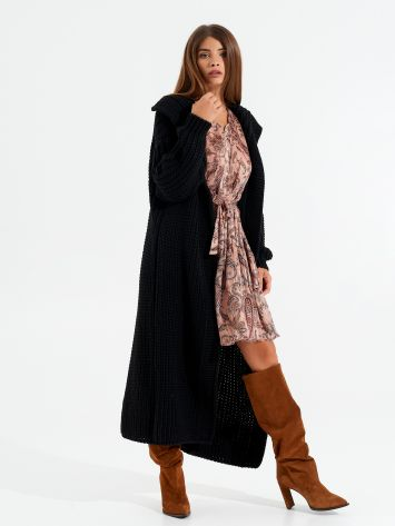 Blended wool long cardigan Blended wool long cardigan Rinascimento