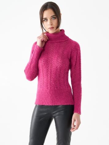 Openwork turtleneck top Openwork turtleneck top Rinascimento