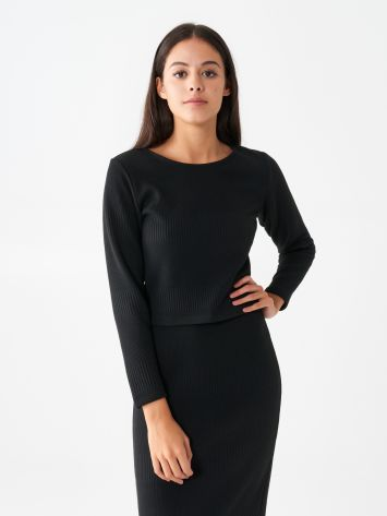 Long sleeve top in viscose Long sleeve top in viscose Rinascimento