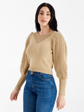 Cropped perforated top Cropped perforated top Rinascimento