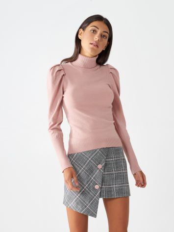 Turtleneck jumper with puff sleeves Turtleneck jumper with puff sleeves Rinascimento