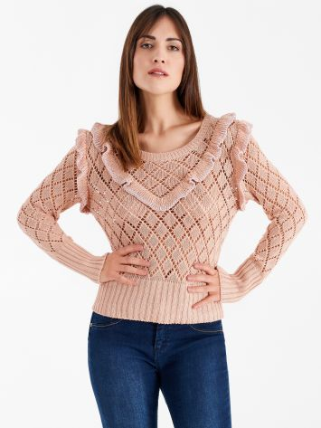 Perforated top with ruffles Perforated top with ruffles Rinascimento