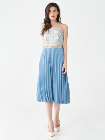 Tweed pleated dress Tweed pleated dress Rinascimento