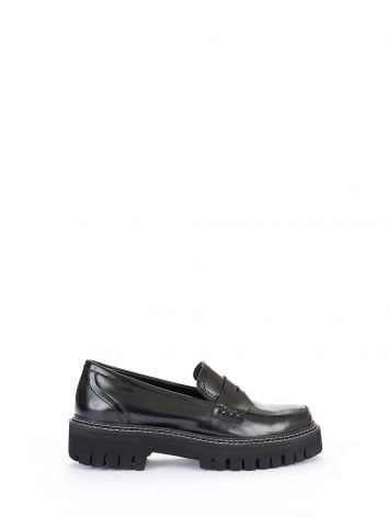Platform leather moccasins Platform leather moccasins Rinascimento
