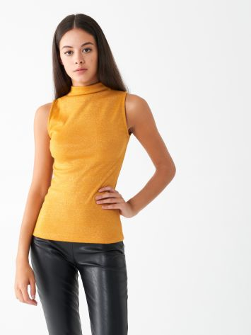 Sleeveless cotton mock neck Sleeveless cotton mock neck Rinascimento