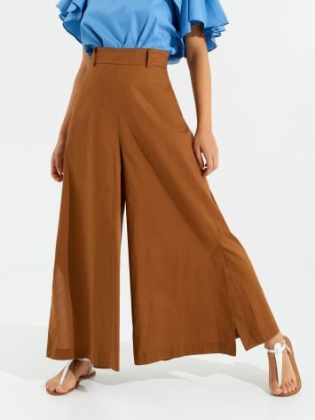 Wide Cotton Trousers Wide Cotton Trousers Rinascimento