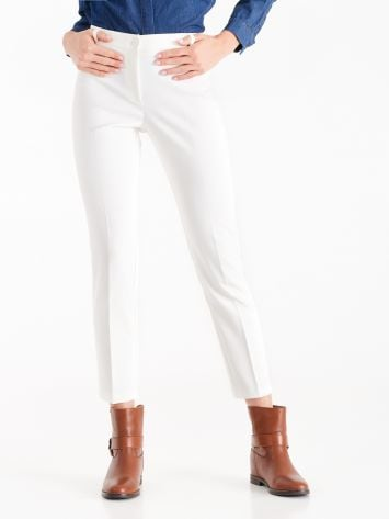 Trousers in white technical fabric  Trousers in white technical fabric  Rinascimento