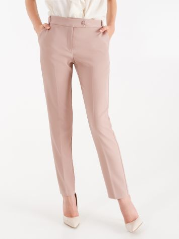 Trousers in dusty pink technical fabric Trousers in dusty pink technical fabric Rinascimento