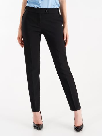 Trousers in black technical fabric Trousers in black technical fabric Rinascimento