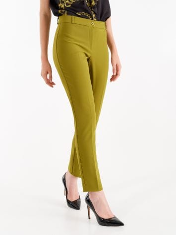 Trousers in oil green technical fabric Trousers in oil green technical fabric Rinascimento