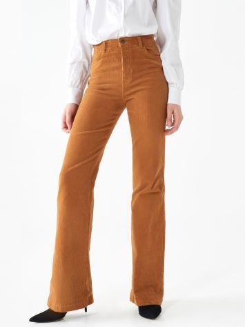 Velvet flare trousers Velvet flare trousers Rinascimento