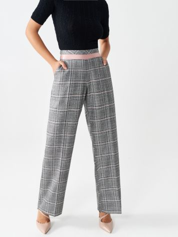 Palazzo glen plaid trousers Palazzo glen plaid trousers Rinascimento