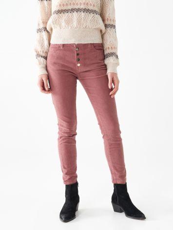 Velvet skinny trousers Velvet skinny trousers Rinascimento