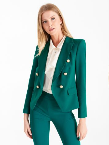 Double-breasted jacket, teal Double-breasted jacket, teal Rinascimento