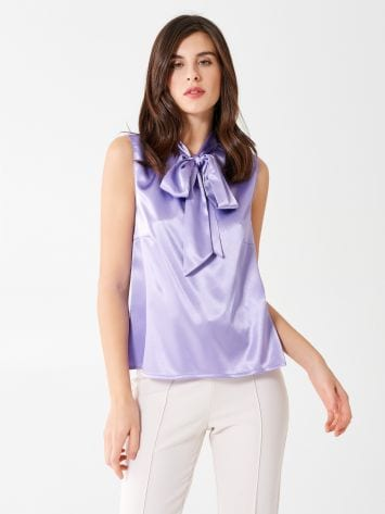 Satin bow blouse Satin bow blouse Rinascimento