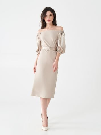 Off-shoulder midi dress Off-shoulder midi dress Rinascimento