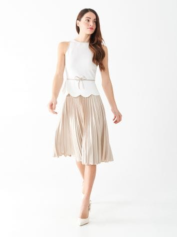Pleated two-tone dress Pleated two-tone dress Rinascimento