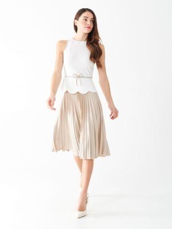 Robe bicolore plissée Robe bicolore plissée Rinascimento