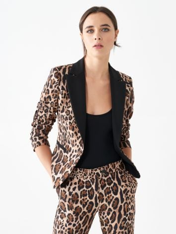 Jacket with animal print Jacket with animal print Rinascimento