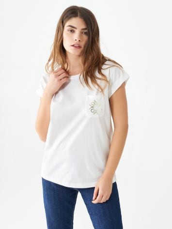 Cotton T-shirt with monogram Cotton T-shirt with monogram Rinascimento
