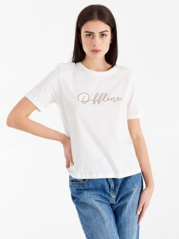 Cotton T-shirt offline Cotton T-shirt offline Rinascimento