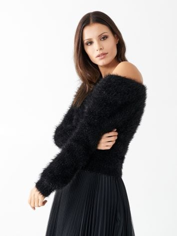 Fur and lurex jumper Fur and lurex jumper Rinascimento