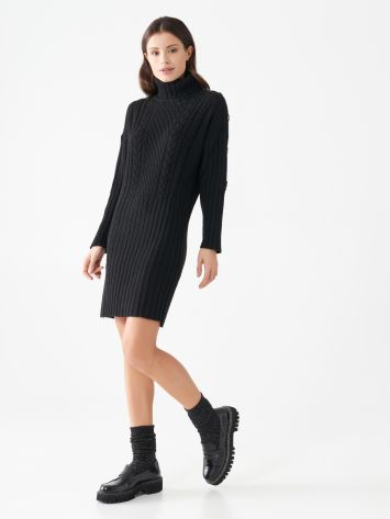 Knitted turtleneck dress Knitted turtleneck dress Rinascimento