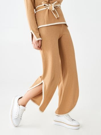Cropped knit trousers Cropped knit trousers Rinascimento