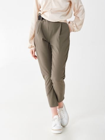 Viscose trousers with belt Viscose trousers with belt Rinascimento