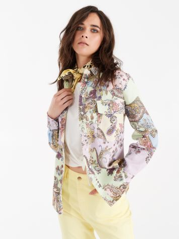 Utility shirt with multicolour paisley print Utility shirt with multicolour paisley print Rinascimento